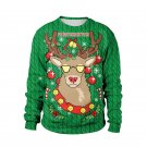Xmas Deer Hoodies Fashion Novelty Full Sleeve Reindeer Streetwear Winter Santa Sweatshirts