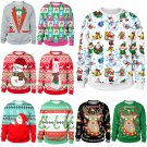 Multi Color Casual Xmas Hoodies Fashion Autumn Streetwear Winter Santa Sweatshirts