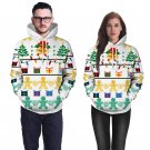 Xmas Gift Printing Couples Hoodies Novelty Tops Winter Pullover Christmas Sweatshirts Costumes