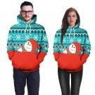 Christmas Snowman Printing Couples Sweatshirts Unisex Novelty Long Sleeve Hoodies Casual Tops