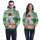 Christmas Costume Single Dog Printed Couples Wear Novelty Long Sleeve Doggy Hoodies