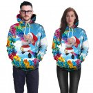 Christmas Rainbow Colorful Print Couples Clothing Novelty Hoodies Winter Lover Tops