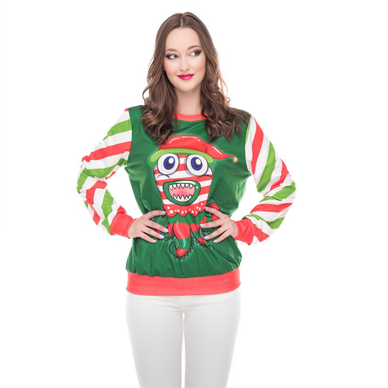 Casual Christmas Letter Print Hoodies Autumn Couples Streetwear Winter Fashion Pullover Tops