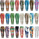 Digital Print Christmas Leggings Slim Xmas Casual Tights Pants Mid Waist Skinny Trousers