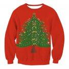 Cartoon Christmas Tree Streetwear Ladies Winter Outerwear Hoodies Happy New Year Tops