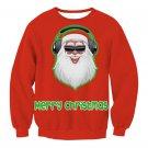 Rock Santa Streetwear Christmas Wear Ladies Winter Outerwear Hoodies Happy New Year Sweatshirts