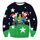 Mario Bro Printing T-shirt Autumn Xmas Streetwear Sweatshirts Ladies Christmas Outerwea