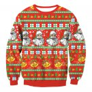 Female Cartoon Santa Printing T-shirts Fashion Sweatshirts Ladies Christmas Clothes Winter Tops