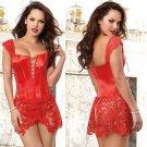 2XL-5XL size Plus Size Sexy Venice Beyonce Lace-up Faux Leather Overbust Lace Corset Lingerie