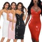 Super Size 3XL Latex Bodycon Dresses Steampunk Large Size Runway Dresses Sexy Night Club Wear