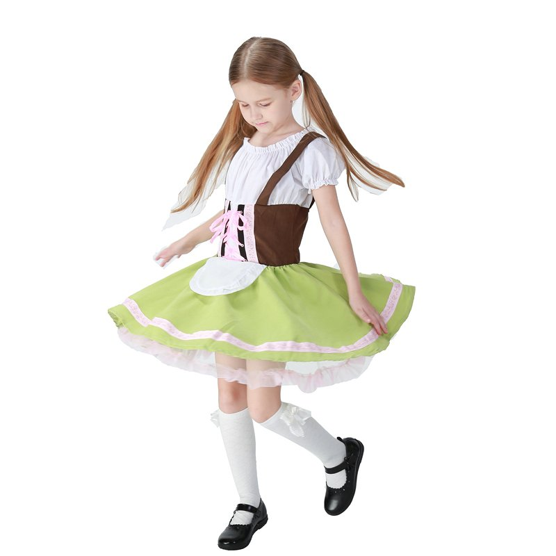 Parent-child Oktoberfest Fancy Dress Carnival Hansel Kid Cosplay Bavarian Beer Girl Costumes