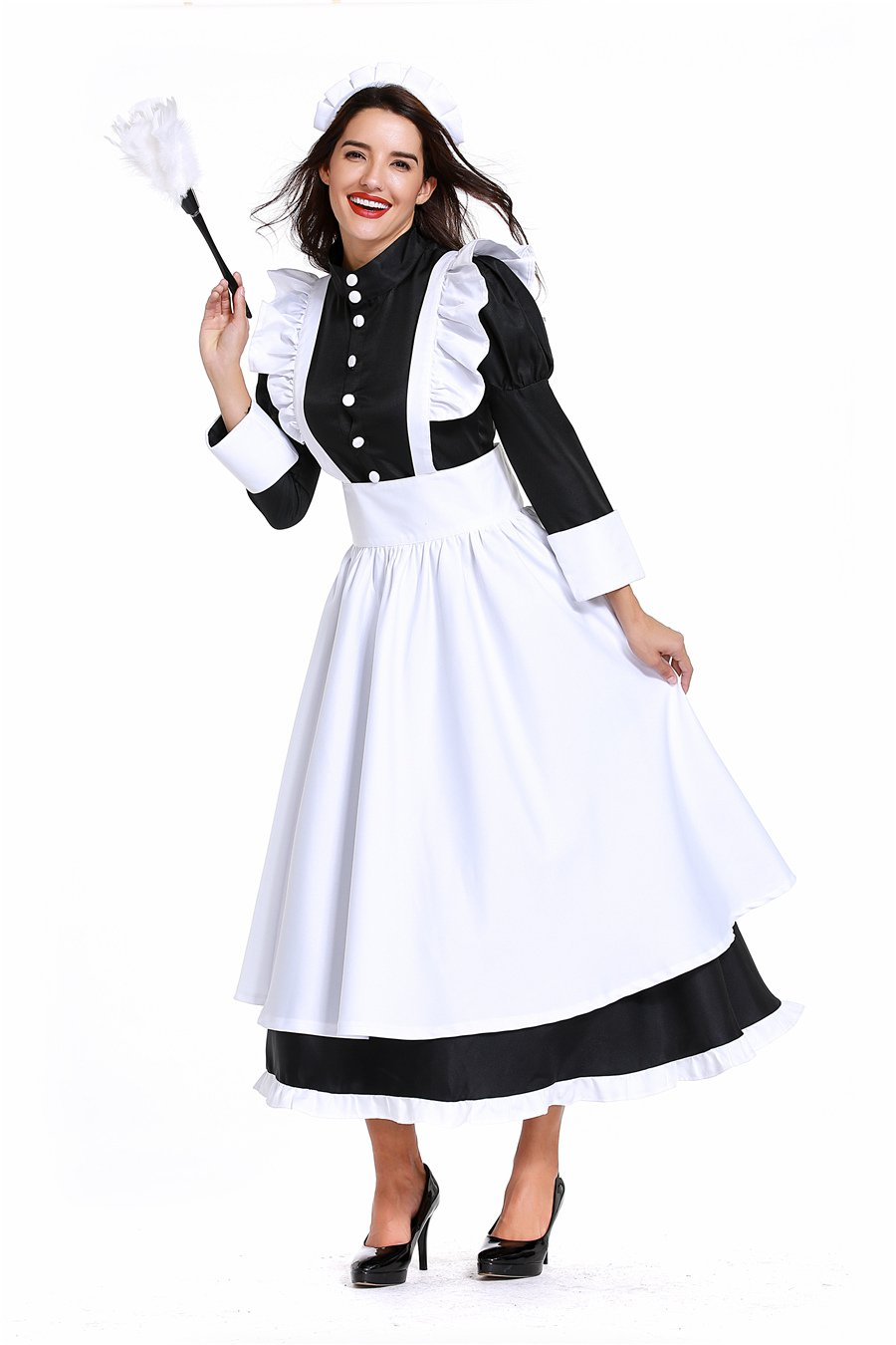 Plus Size 2XL England Cook Costume Housekeeper Uniform Carnival Maid Cosplay Fancy Dress