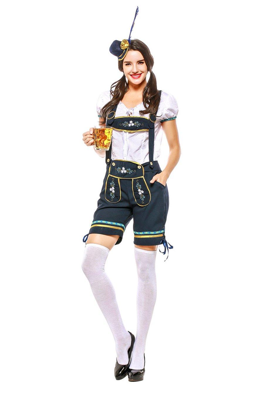 Bavarian Beer Overalls Uniform Mardi Gras Women Oktoberfest Costume Carnival Hansel Cosplay Clothing