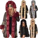 Large Size Fur Three-quarter Coat Hooded Dust Coat Camouflage Jacket Winter Women's Trench Coats