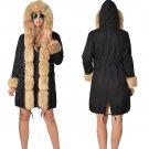 Fur Winter Parker Hannifin Hooded Parka Women Trench Coats Plus Size XXL Three-quarter Coat