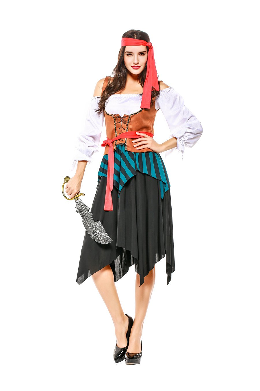 Halloween Crew Stage Drama Costume Carnival Sailor COS Uniform Pirate Cosplay Costume