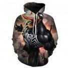Novelty Christmas Gift Venom Hoodies Winter American Comic Movie Couples Streetwear Unisex