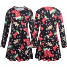 Kid Casual Holiday A Line Dress Cute Girl Streetwear Children Christmas Snowflake Print Dresses