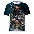 Unisex Short Sleeve 3D Printing Super Hero Comic Aquaman Orin Tees Men Arthur Curry T-shirts