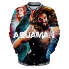 Super Size 3XL Superhero Orin Coat DC Aquaman Baseball Bomber Arthur Curry Letterman Jacket