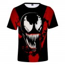 Large Size Comic Venom Streetwear Superhero Tops Unisex Cartoon Cosplay T-shirts 3XL Size