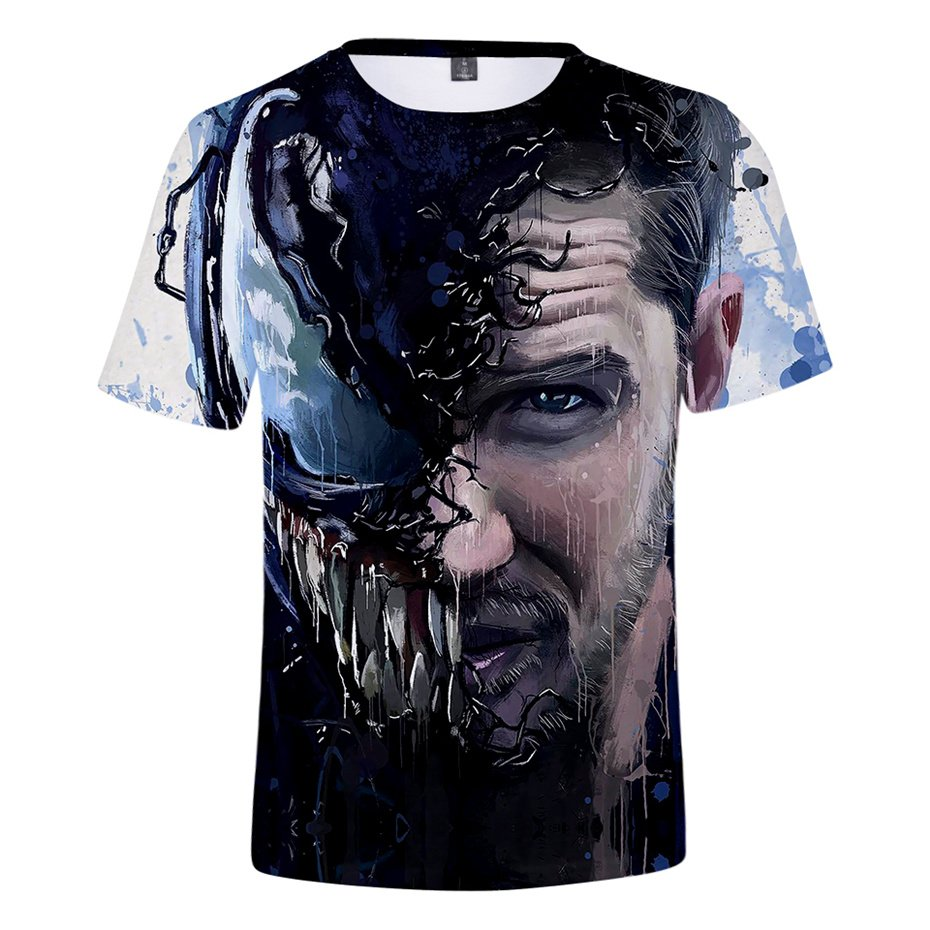 Christmas Gift Venom T-Shirts Summer Comic Movie Couples Streetwear Unisex Super Hero Shirts