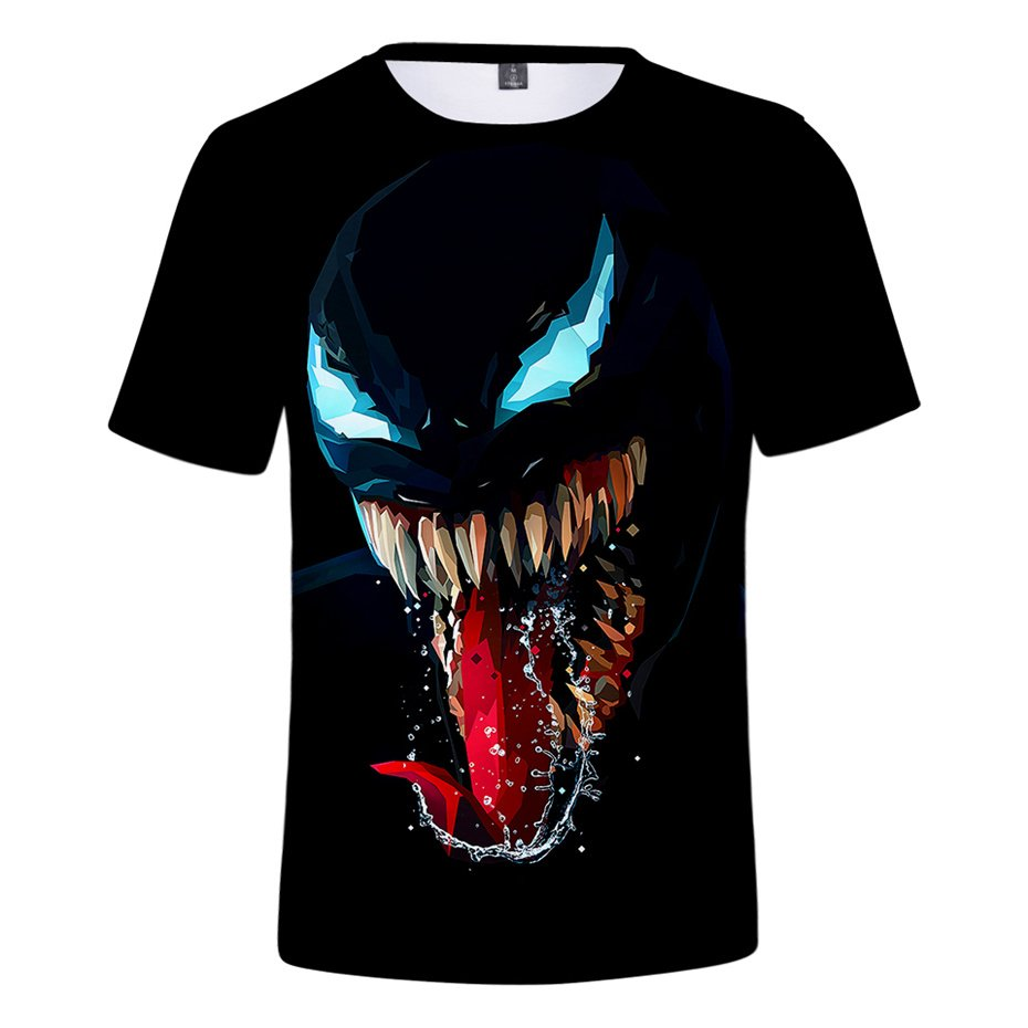 Plus Size Super Hero Venom Blouse Christmas Summer Outerwear Comics Movie T-shirts