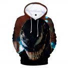 Comics Movie Outerwear Unisex Venom Hoodies Streetwear