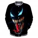 Unisex Super Hero Coat Marvel Movie Venom Letterman Jacket Winter Punk Baseball Bomber