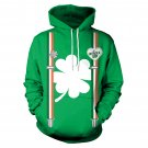 Green St. Patricks Day Couples Hoodies Sweetheart Streetwear Unisex Casual Holiday Sweatshirt