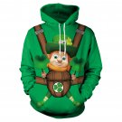 Casual Holiday St. Patricks Day Sweatshirt Fashion Shamrocks Streetwear Green Leprechaun Hoodies