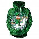 Plus Size Unicorn Sweatshirt St. Patrick's Day Shamrocks Streetwear Fashion Leprechauns Hoodies
