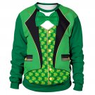 Green Leprechaun Suit Hoodies St. Patrick's Sweatshirt Lover's Clothing Ireland Holiday Couple Wear