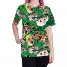 Plus Size Women 3D Print Shirts Animal Tops Leprechaun Outerwear Shamrocks St. Patrick Blouses