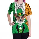 Women Shamrocks T-shirts St. Patrick's Day Tops Summer Fashion Ladies Leprechaun Ireland Blouses