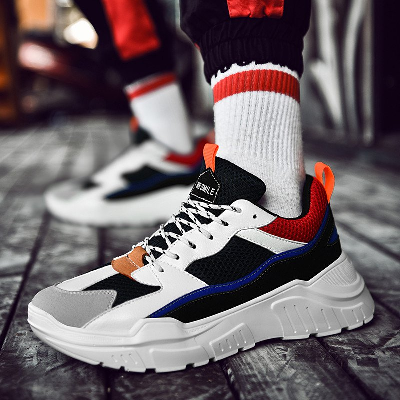 Retro Dad Shoes USA Speed Trainer Style Breathable Sport Shoes Men Spring and Fall Sneakers