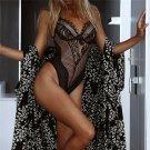 Sheer Women Erotic Teddies Lingerie Lace Sleepwear Sexy Bodysuit Underwear
