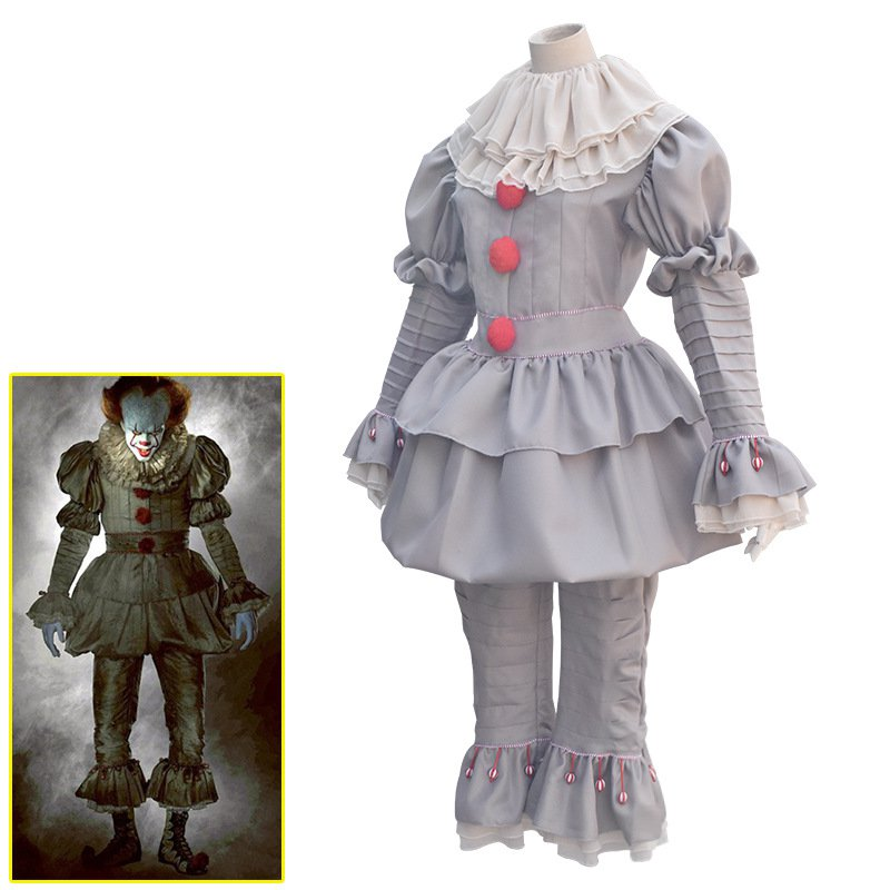 Penny Wise COS Uniform Clown Harry Anderson Cosplay Outfits Stephen King's It Costume