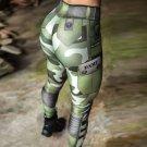 Digital Camouflage Printing Fashion Leggings Women High Waist Skinny Military Army Pants