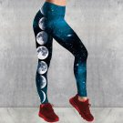 Digital Printing Moon Leggings Women High Waist Skinny Planet Galaxy Printed Pants