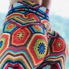Casual Lift Butts Leggings Women Skinny Active Wear Geometry Print Juicy Peach Hip Yoga Pants