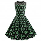 Shamrocks Printed Retro Party Dresses St. Patrick's Day Casual Dress Fashion Wear