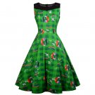 3D Print Retro Party Dresses St. Patrick's Day Casual Dress Shamrocks Fashion Ireland Fashion Wear