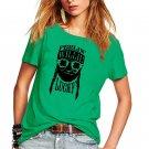 Lucky Witch Printed Tops Shamrocks Ireland Festival Shirts Irish St Patrick Day Women T-shirts