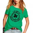 Plus Size Ireland Festival Shirts Saint Patrick Day Blouses Irish Women Shamrocks Printed Tops