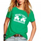 Women St Patrick Shirt Shamrocks Printing Tees Summer Streetwear Casual Tops