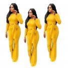 Plus Size 2XL Fashion Women Jumpsuit Long Sleeve Spring African Style Wide Leg Rompers