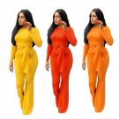 Fashion Women Long Sleeve Jumpsuit Plus Size XXL Spring African Sashes Autumn Casual Clothing