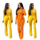 Fashion Women Jumpsuit Plus Size Casual Clothing Long Sleeve Spring African Wide Leg Rompers