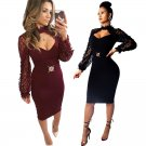 Fashion Star Street Style Dresses Party Outwear Spring Break Clothes Sequins Sexy Celebrity Dress